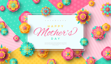 Mothers Day card with square frame