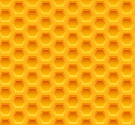 yellow honeycomb seamless pattern