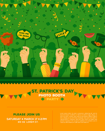 Patricks day carnival party poster Stockfoto - 96717752