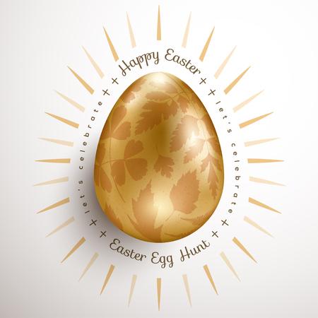 Easter golden egg 일러스트