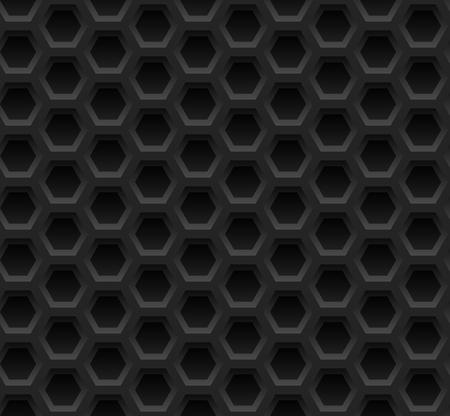 Black honeycomb seamless pattern Illustration