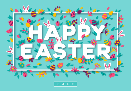 Happy Easter greetings Ilustrace