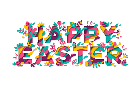 Easter greeting card typography