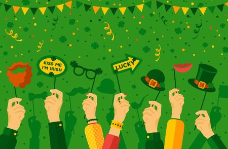 Saint Patricks day carnival banner