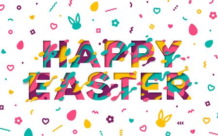 Easter typography design Illustration