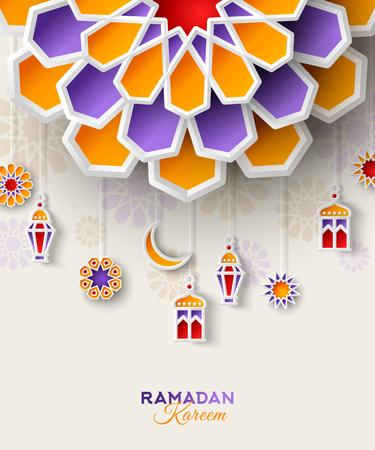 Ramadan Kareem concept banner Illustration