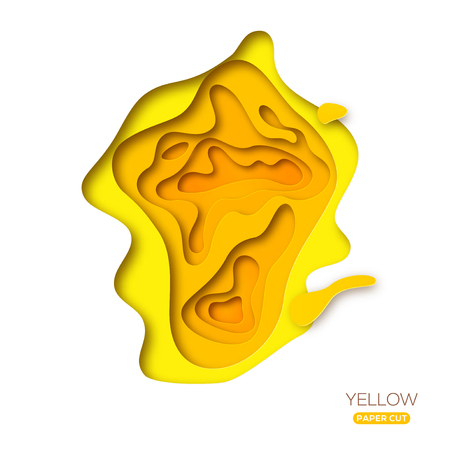 Yellow paper cut shape