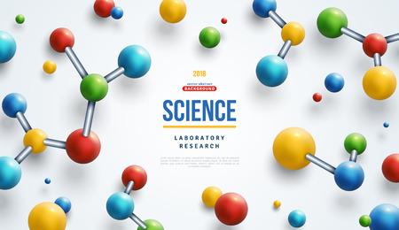 Bunte 3D-Moleküle Vektorgrafik