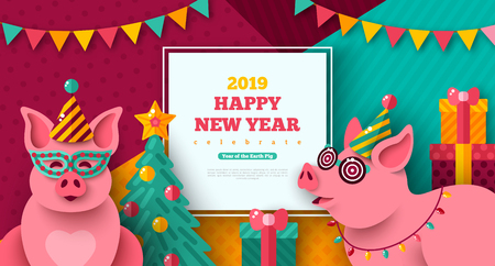 New Year carnival pigs
