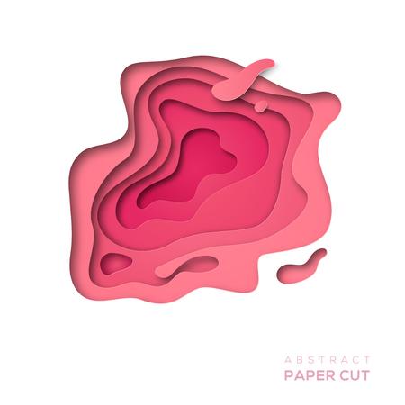 Pink paper cut shape
