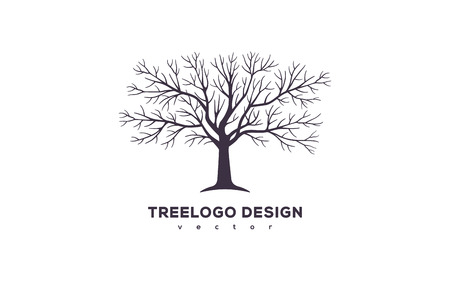 Tree logo design Vettoriali