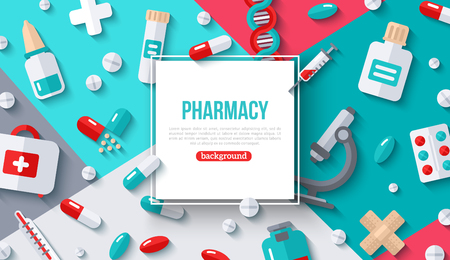 Pharmacy Banner Square Frame