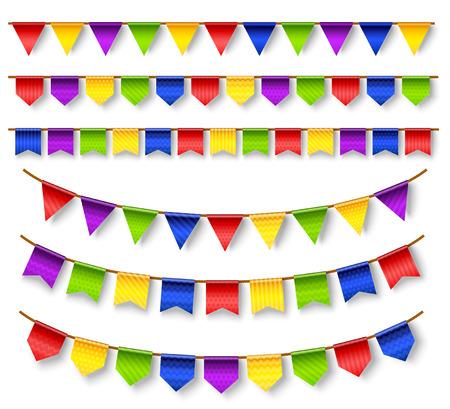 Conjunto de decoración de guirnaldas de vacaciones