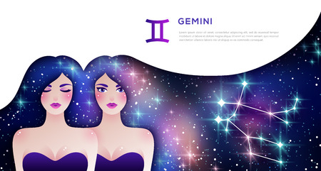 Gemini zodiac sign Stock Vector - 119357551