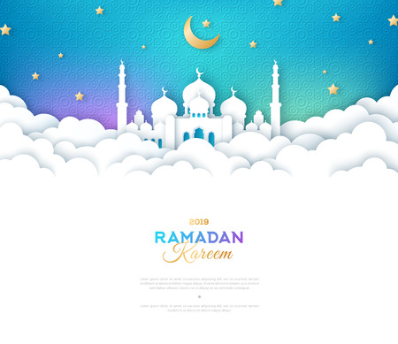 Ramadan Mosque in Clouds 스톡 콘텐츠 - 121749743
