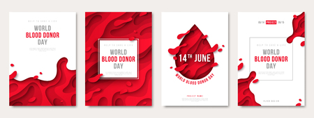 World donor day set of posters