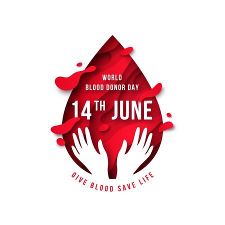 Goutte de sang et mains