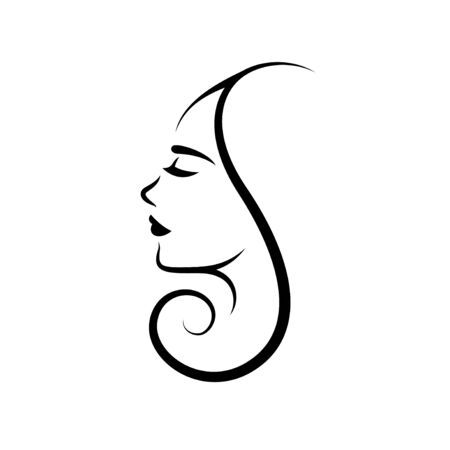 Woman face logo design