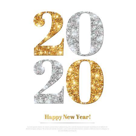 2020 paillettes nouvel an