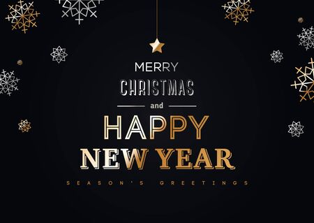 Happy New Year Typography Poster