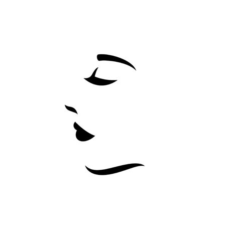 Woman face logo design 免版税图像 - 127153540