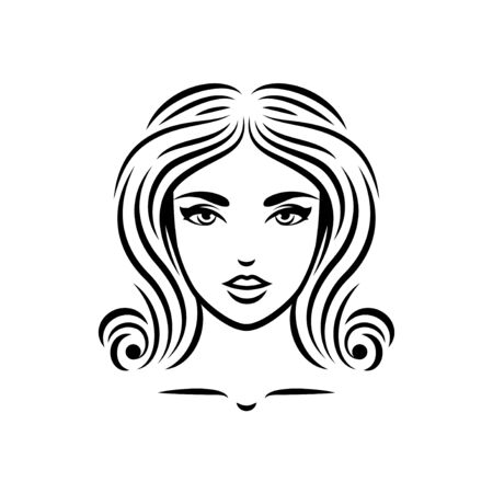 Girl with curly hair Illustration