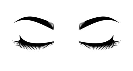 Woman eyes with perfect lashes