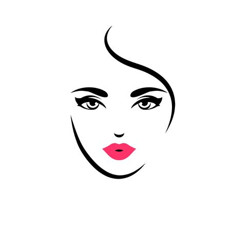Woman with red lips Archivio Fotografico - 127153544