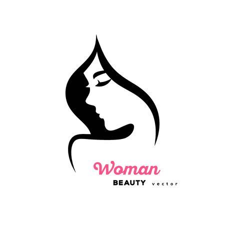 Woman profile design