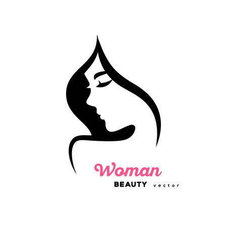 Woman profile design