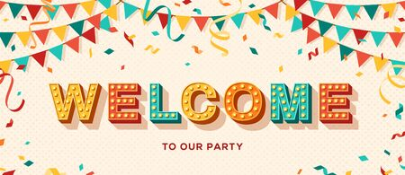 Welcome typography banner