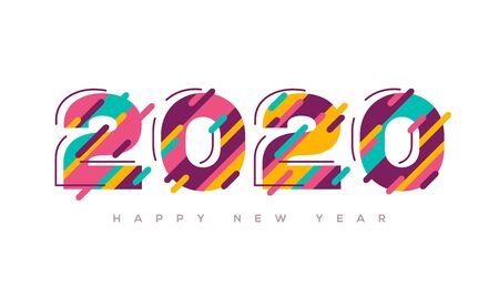 2020 Happy New Year colorful