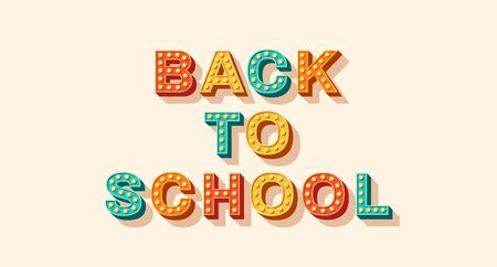 Back to school retro typography