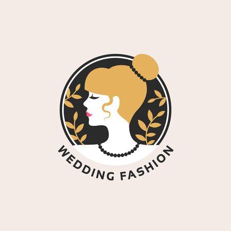 Woman wedding emblem