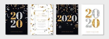 Conjunto de año nuevo 2020 Ilustración de vector