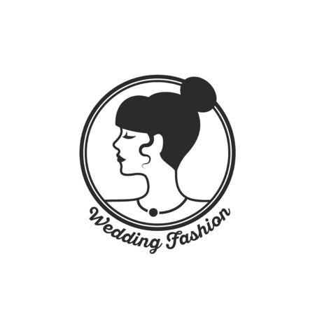 Woman circle emblem