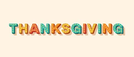 Thanksgiving card or banner Illustration