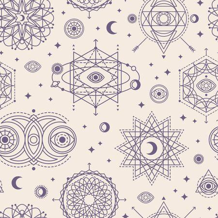 Patrón con formas de geometría sagrada