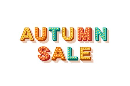Autumn sale flat  lettering