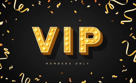 Luxury vip invitation with confetti