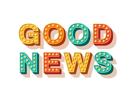 Good news vector typography 写真素材 - 131878756