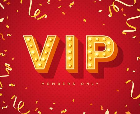 Luxury vip red invitation