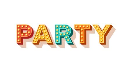 Party vector typography