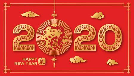 Tarjeta China Roja y Dorada 2020