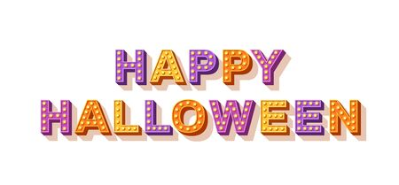 Happy Halloween typography isolated