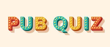 Pub Quiz banner 3d font