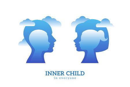 Psychology logo concept Иллюстрация