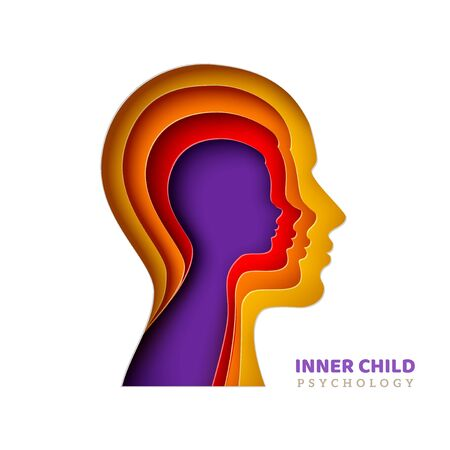 Inner child psychology concept Ilustracja