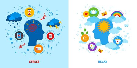 Mental stress and relax concept