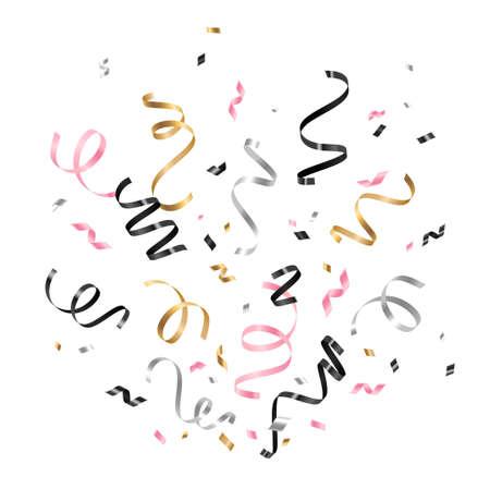 Serpentine and confetti
